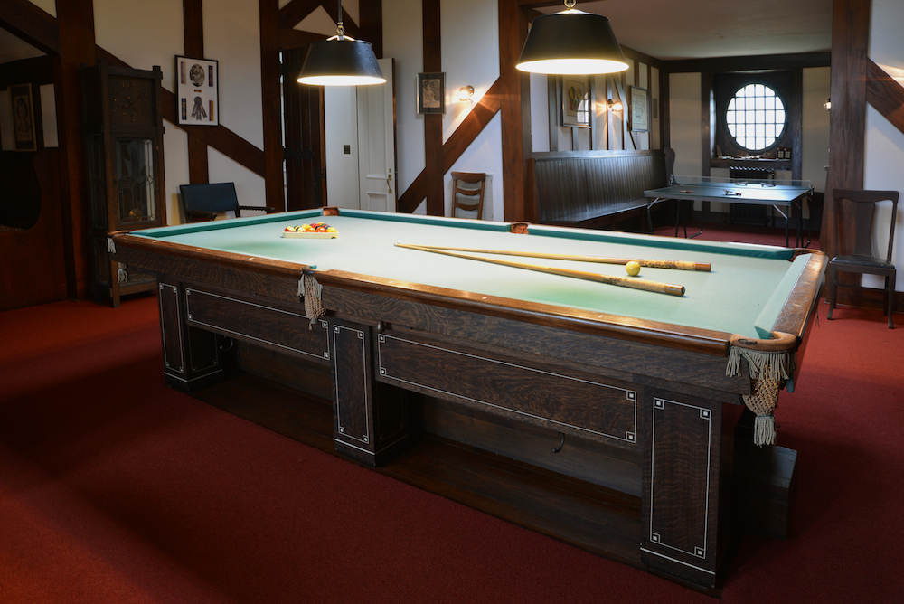 Centered Within The Room Was A Very Large Almost Mammoth Pocket Billiard Pool Table